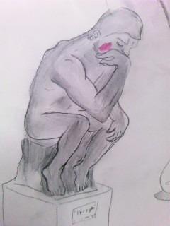 考える人の画像(プリ画像)