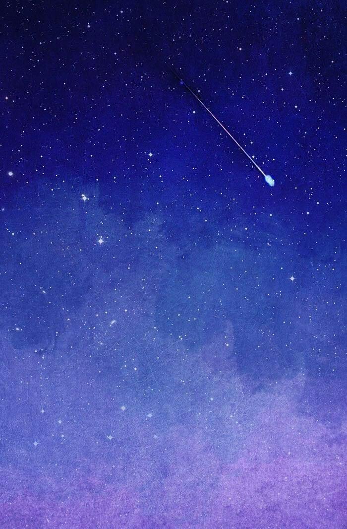 手描き風の流れ星