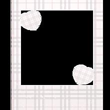 チェック&ハート♡ チェキ ポラロイド 風 フレーム 背景透過の画像(かわいい 素材に関連した画像)