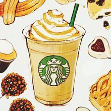 スタバ   キャラメルマキアートの画像(イラスト 飲み物 可愛いに関連した画像)