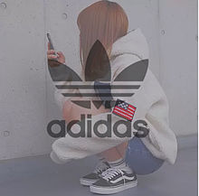 adidas アディダス ファッション NIKE 女の子の画像(かっこいい アディダス ロゴに関連した画像)