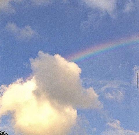 虹 雲 空 光 景色 綺麗 カップル 青春 背景の画像 プリ画像