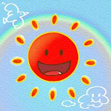 🌼老人会用に無料配布した太陽🌼の画像(キュートに関連した画像)
