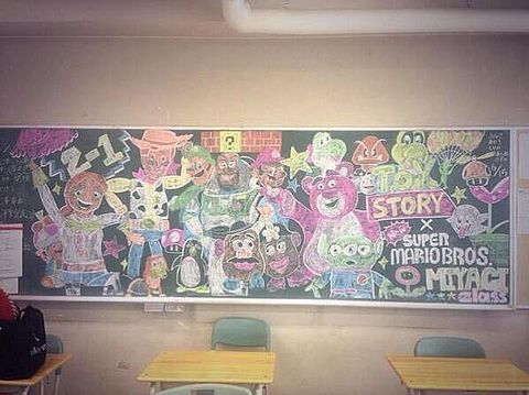 黒板アート(ディズニー)