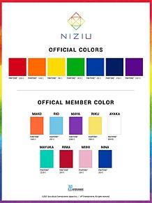 NiziUメンバーカラーの画像(メンバーカラーに関連した画像)