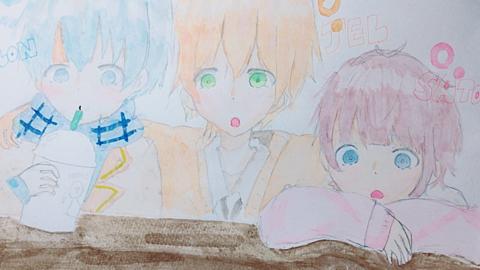 変態3人組描いてみたー【さとみくん·ころちゃん·ジェルくん】の画像(プリ画像)