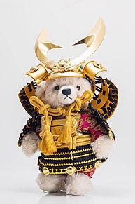 シュタイフ社テディベア 五月人形  ハートいいねを押してねの画像(テディベアに関連した画像)