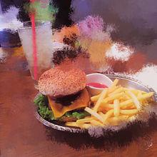ハンバーガー プリ画像
