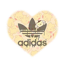 adidas♡ほんわかはーと**❤︎の画像(黄色茶色に関連した画像)