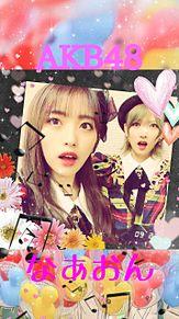 AKB48 向井地美音&岡田奈々スマホ壁紙です(◍•ᴗ•◍)の画像(岡田奈々に関連した画像)