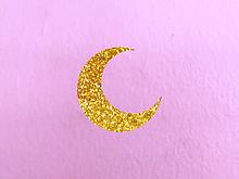 キラキラお月様 プリ画像