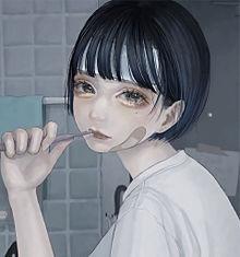 鬱の画像(カットに関連した画像)