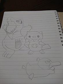 ワニノコ、ミジュマル、コダック プリ画像