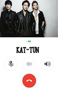 KAT-TUNでライン電話加工してみた(*ˊᵕˋ*) プリ画像