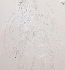 ファミレスのラクガキが上手く描けてしまった件の画像(中2に関連した画像)