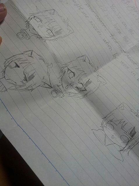 昨日の授業中の落書きの画像(プリ画像)