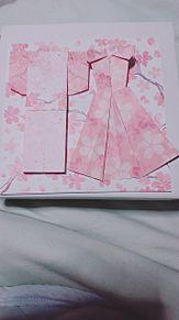 私が作っでみた。おりがみです。ドレスと浴衣とリボンも折ってましたの画像(浴衣に関連した画像)