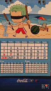 ONE PIECEカレンダー7月の画像(ONE PIECEに関連した画像)