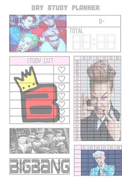 スタディープランナー BIGBANGの画像(プリ画像)