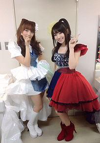 水樹奈々さんと日笠陽子さんピース(*^_^*)の画像(プリ画像)