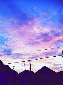 虹色の空 プリ画像
