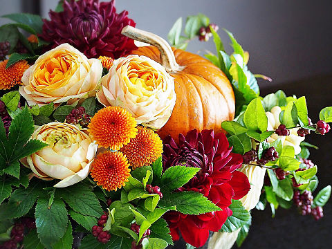 秋の花アレンジ おしゃれ  ハートのいいねを押してね!の画像 プリ画像