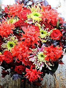 レッド系の花アレンジ 画像右下のハートを押してね!の画像(レッド系に関連した画像)