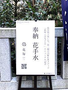 日本橋 福徳神社の花手水 写真右下のハートを押してねの画像(日本橋に関連した画像)
