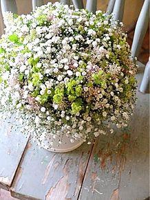 カスミソウの美しい花アレンジ 写真右下のハートを押してねの画像(カスミに関連した画像)