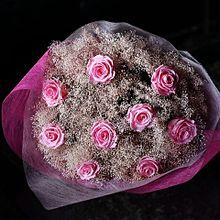 ピンクのバラの花束  写真右下のハートを押してねの画像(花束に関連した画像)