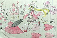 不思議の国のアリスのウサギさん カラー版の画像(プリ画像)