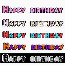 Happy  birthday 素材の画像(誕生日 素材に関連した画像)