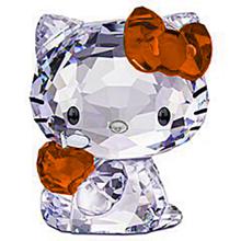 キティちゃん 橙色 オレンジ クリスタル プリ画像