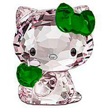 キティちゃん グリーン 緑色 クリスタル プリ画像