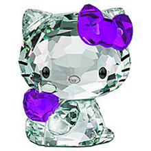 キティちゃん 紫色 パープル クリスタル プリ画像