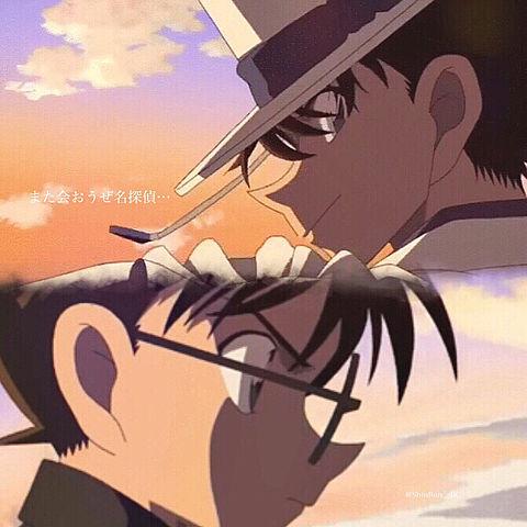 名探偵コナン - 江戸川コナン - 怪盗キッド -の画像(プリ画像)