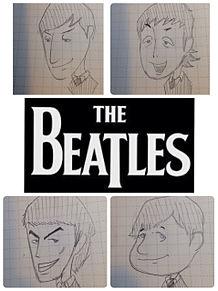 BEATLESの似顔絵!の画像(プリ画像)