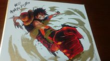 ルフィの色紙の画像(プリ画像)