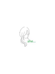 she...の画像(ポニーテールに関連した画像)