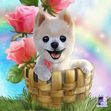 数字で塗り絵 子犬の画像(塗り絵に関連した画像)