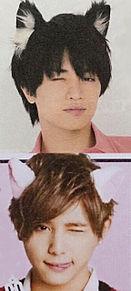 ケンティー 涼ちゃん 猫耳ウインクの画像(#猫耳に関連した画像)