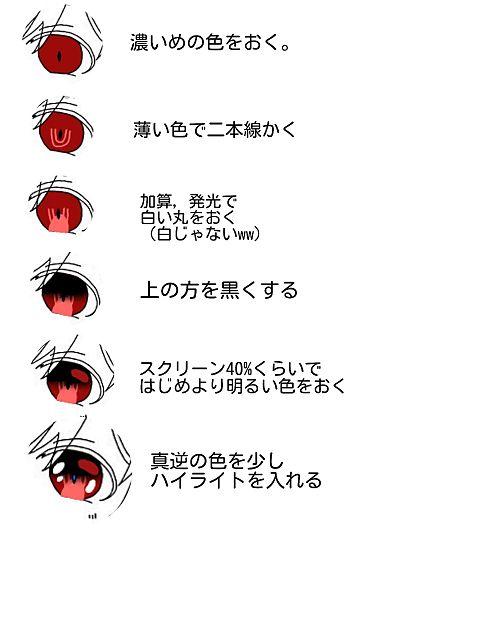 目の塗り方。の画像(プリ画像)
