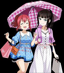 ルビィちゃんとダイヤちゃんお買い物の画像(買い物に関連した画像)