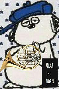 ホルン×オラフの画像(peanutsに関連した画像)