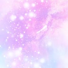 キラキラ 初恋 夢 ピンク 水色 宇宙柄 fairy レインボーの画像(プリ画像)