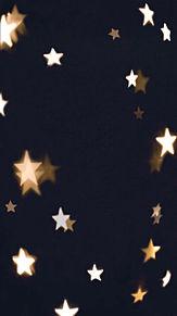 SNOW 背景 ハート 星 花 素材の画像(プリ画像)