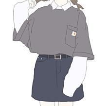 グレーTシャツ プリ画像