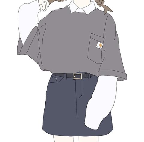 グレーTシャツの画像(プリ画像)