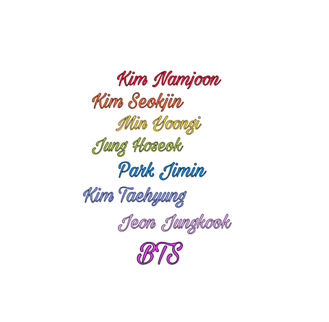BTSの名前の画像(プリ画像)