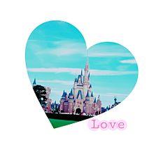 ディズニーランド シンデレラ城 Loveの画像(プリ画像)